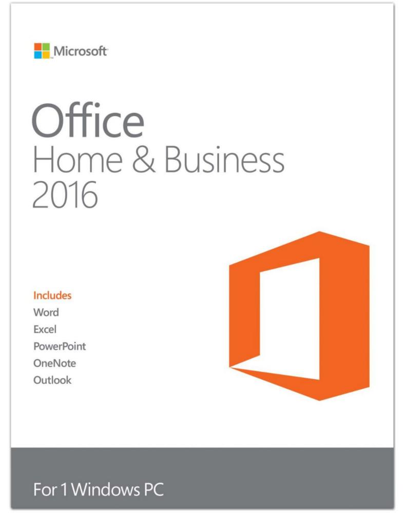 Microsoft Office 2016 Home & Business (Windows)