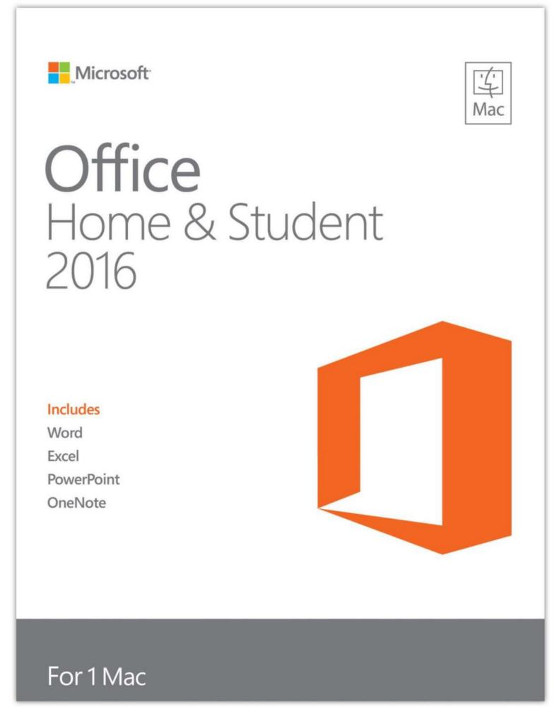 Microsoft Office 2016 voor Mac Home & Student