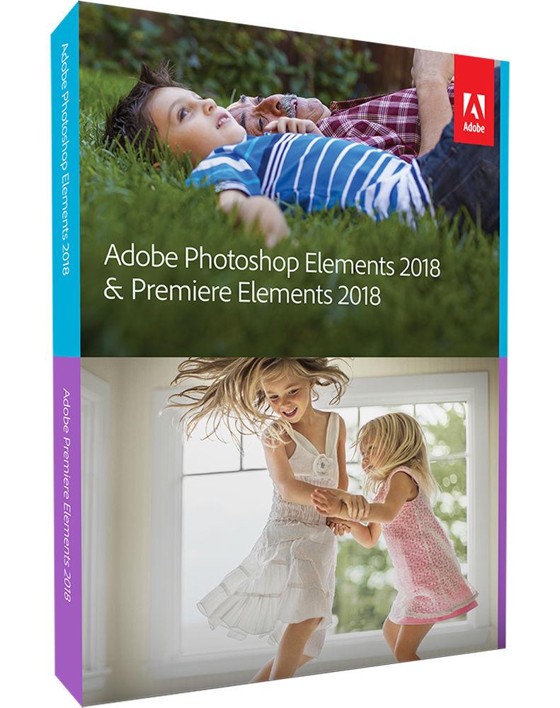 Adobe Photoshop + Premiere Elements 2018