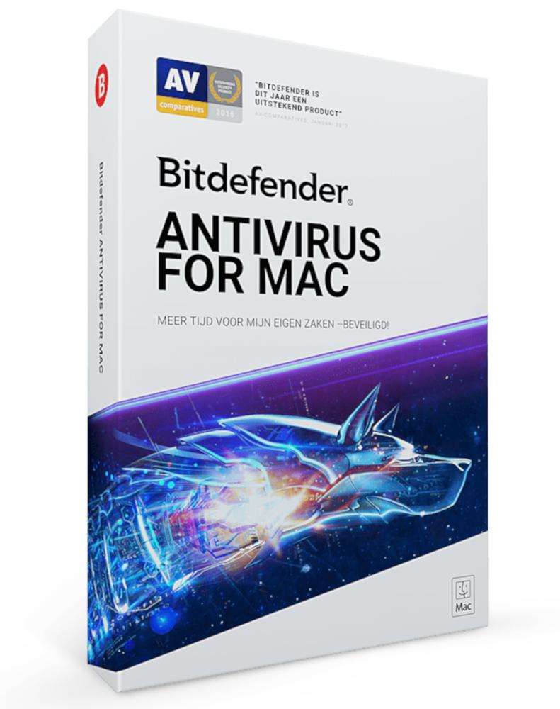 Bitdefender Antivirus voor Mac (3-Mac 1 jaar)