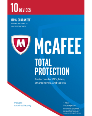 McAfee Total Protection (1 jaar - 10 devices)