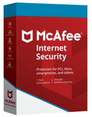 McAfee Internet Security (3 devices - 1 jaar)