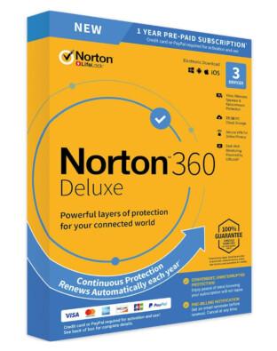 Norton 360 Deluxe (3-devices 1-jaar)