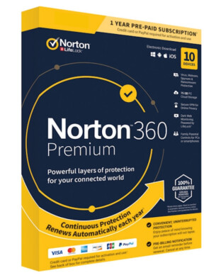 Norton 360 Premium (10-devices 1-jaar)