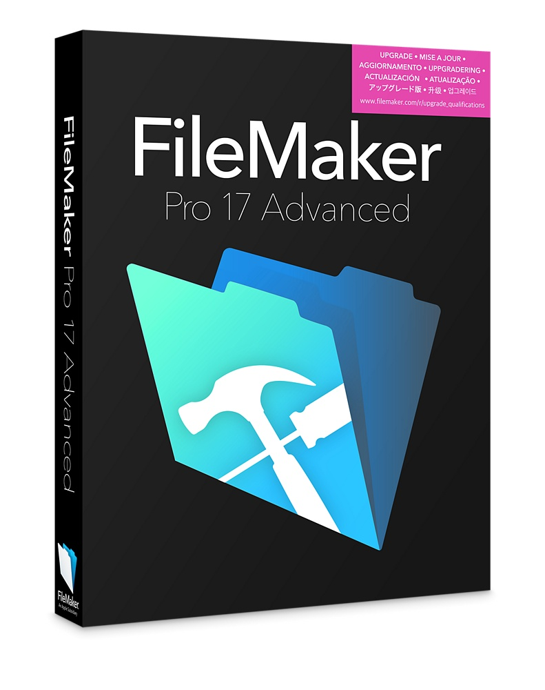 FileMaker Pro Advanced v17 (Academic / Non-Profit licentie*)