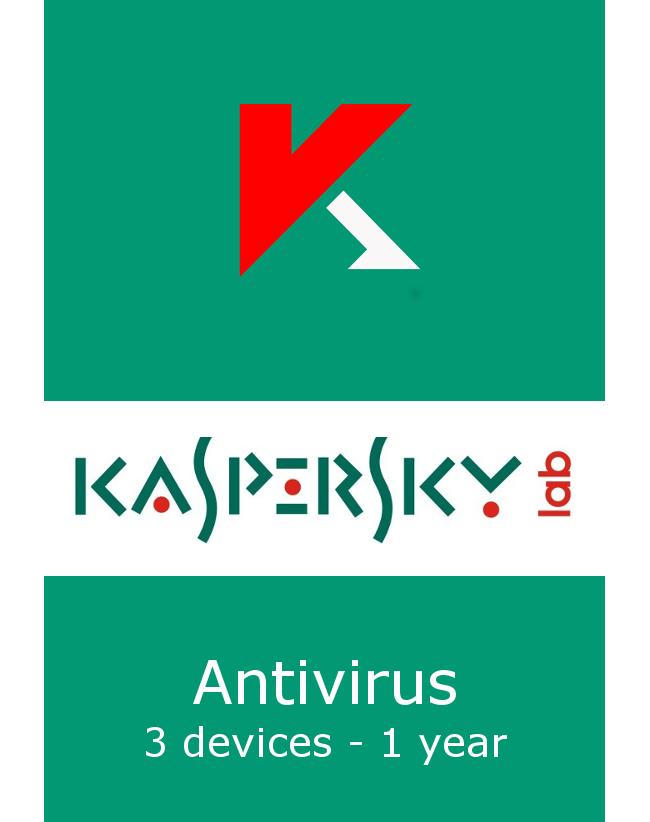 Kaspersky Antivirus (3 devices - 1 jaar)