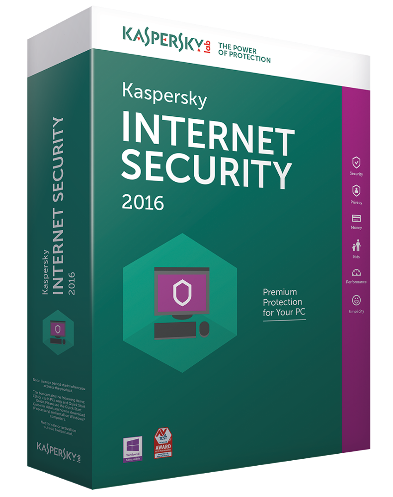Kaspersky Internet Security 2016 (1 jaar - 3 installaties)