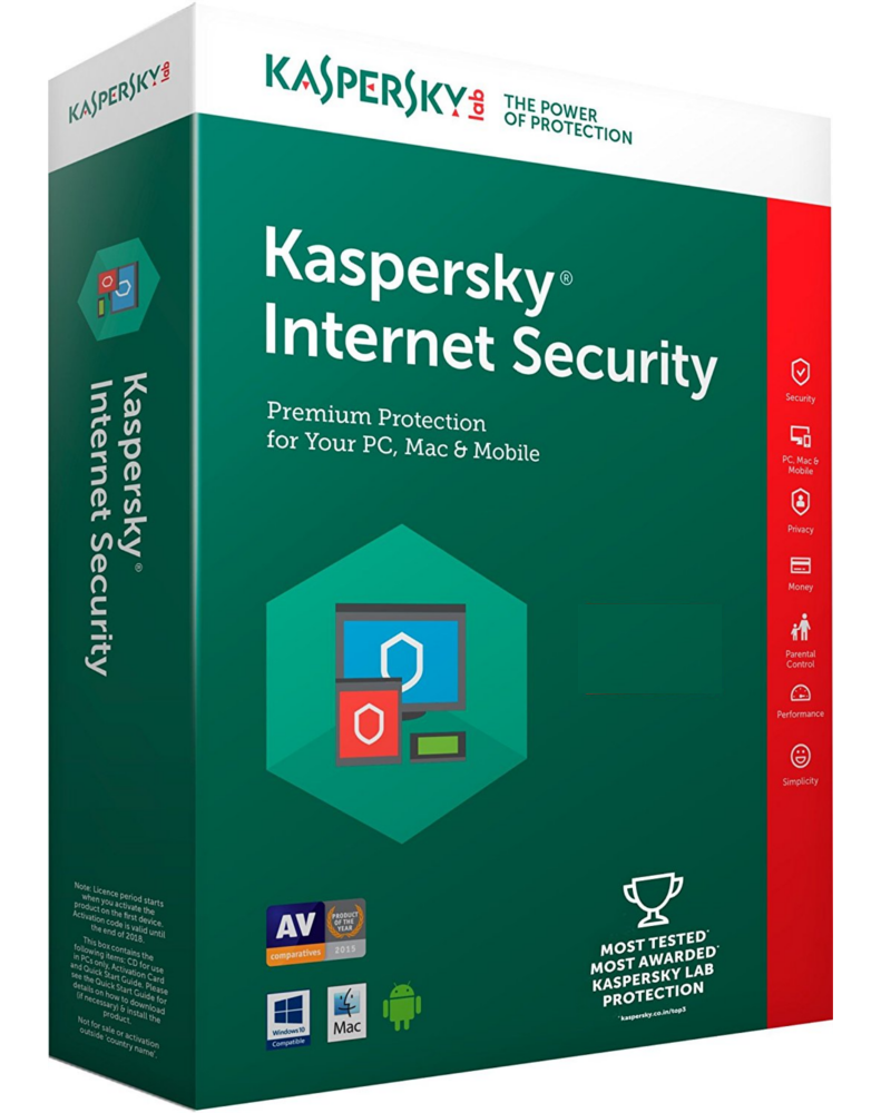 Kaspersky Internet Security 2018 (1 jaar - 1 installatie)