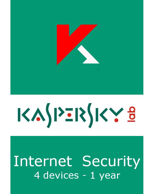 Kaspersky Internet Security (4 devices - 1 jaar)
