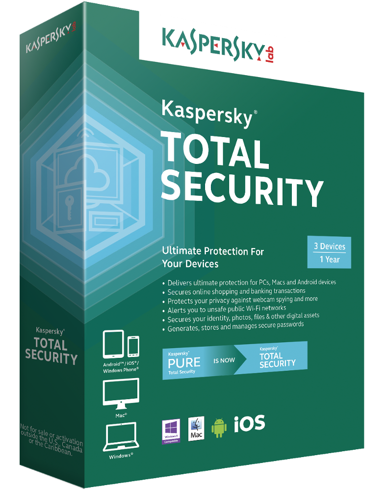 Kaspersky Total Security 2016 Multi-Device (5 devices)