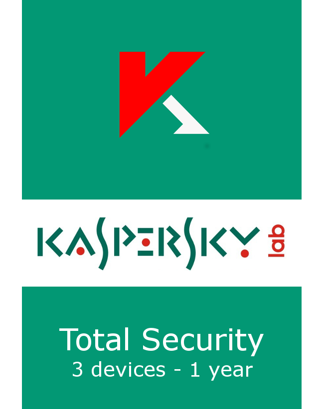 Kaspersky Total Security (3 devices - 1 jaar)