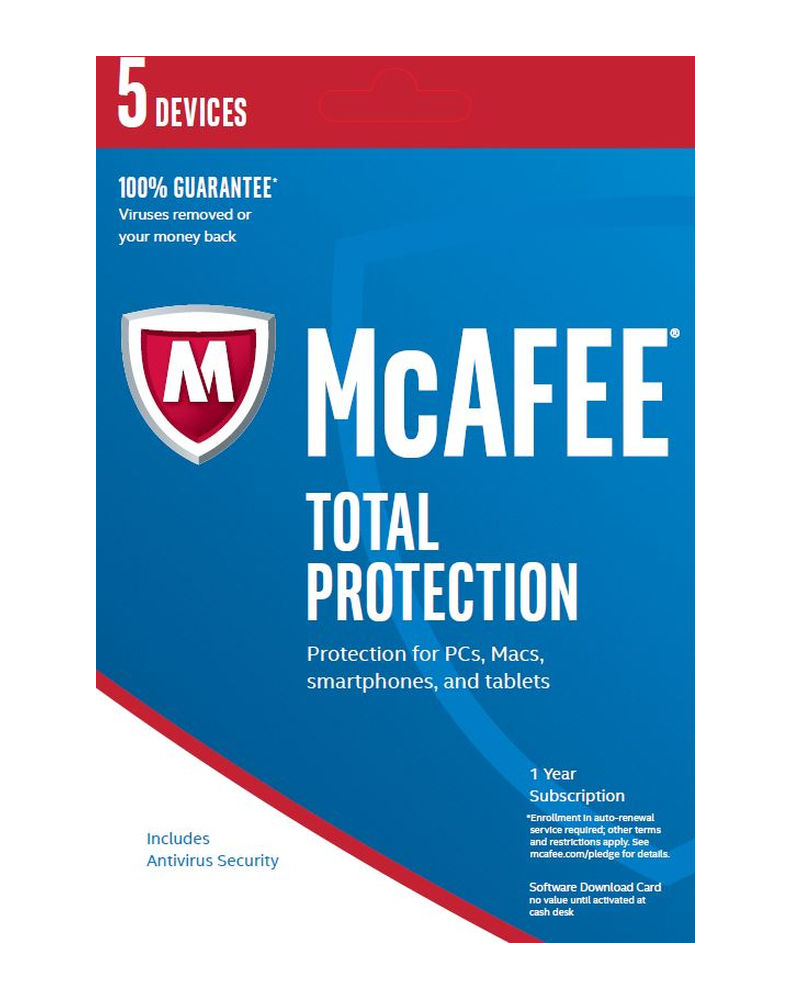 McAfee Total Protection (1 jaar - 5 devices)
