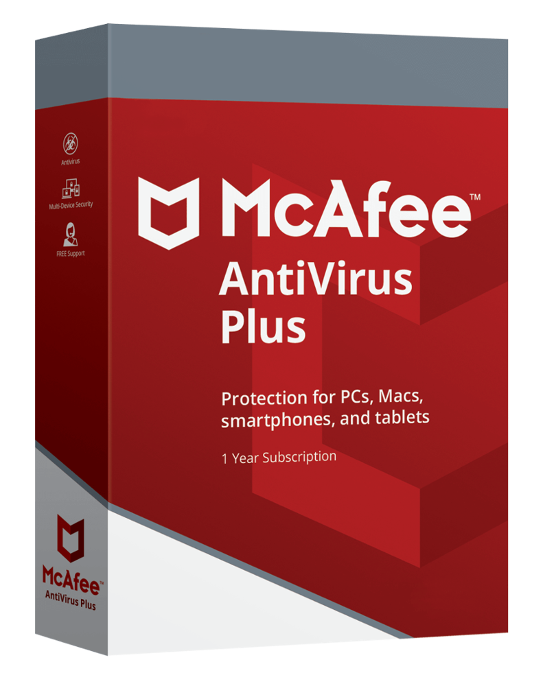McAfee Antivirus Plus (10 PC - 1 jaar)