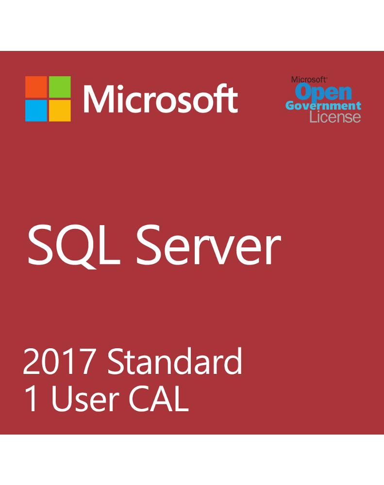 Microsoft SQL User CAL 2017 (License only)