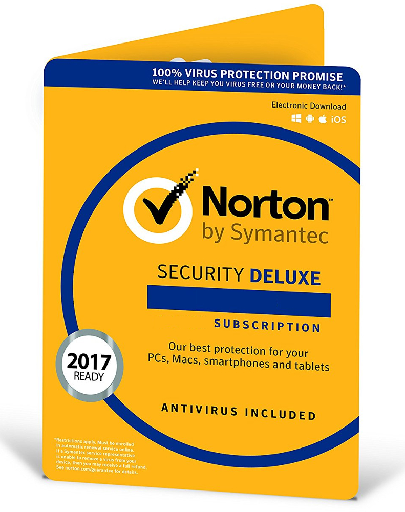 Norton Security Deluxe (3 apparaten - 1 jaar)