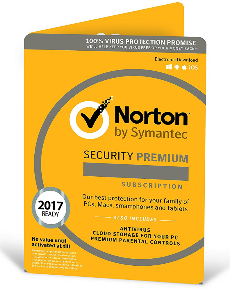 Norton Security Premium (10 apparaten - 1 jaar)