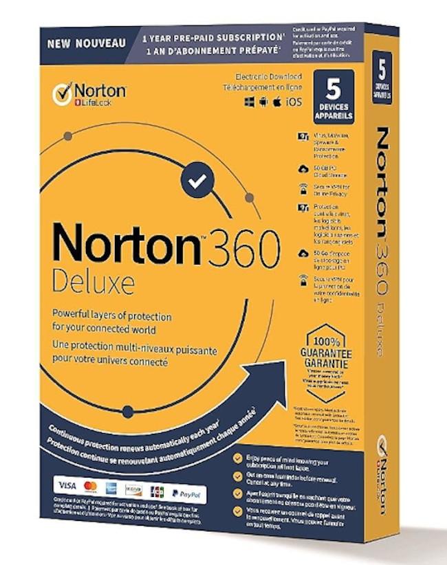 Norton 360 Deluxe (5-devices 1-jaar)