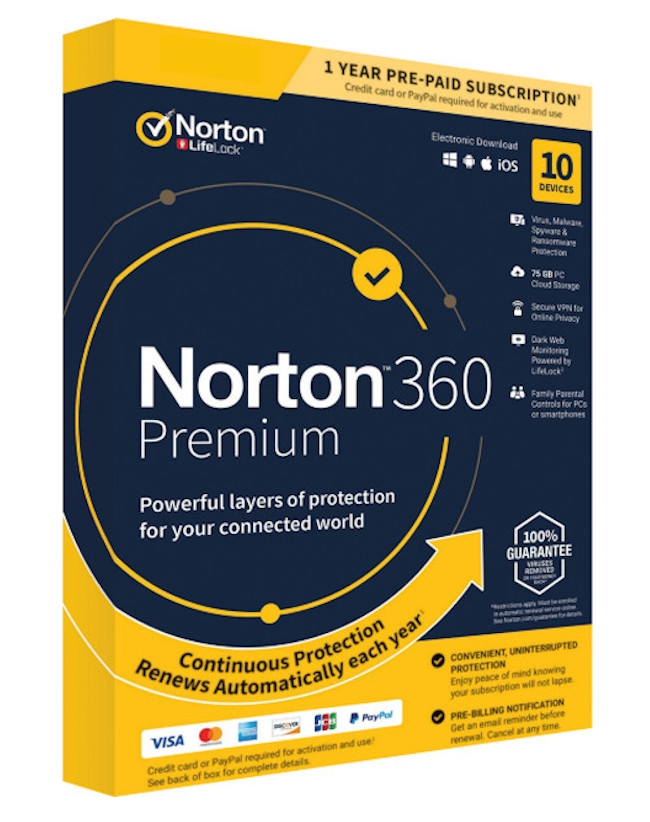 Norton 360 Premium (10-devices 1-jaar)
