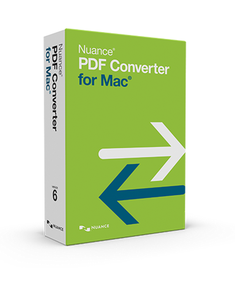 Nuance PDF Converter for Mac 6.0