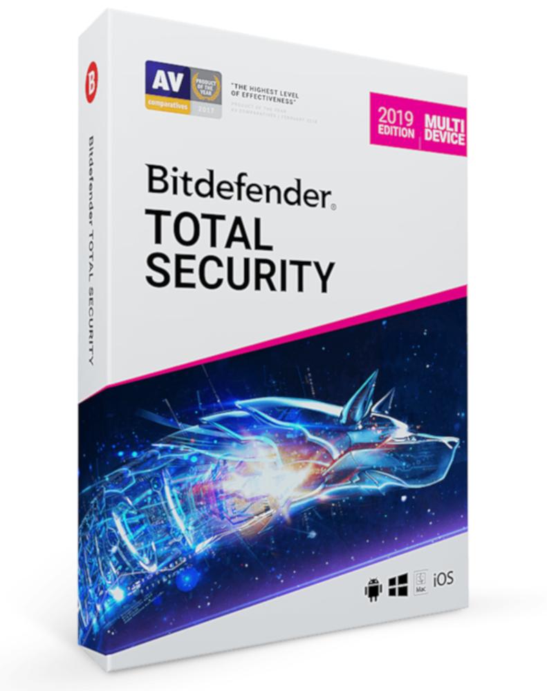 Bitdefender Total Security Multi-Device (10-Devices 1 jaar)