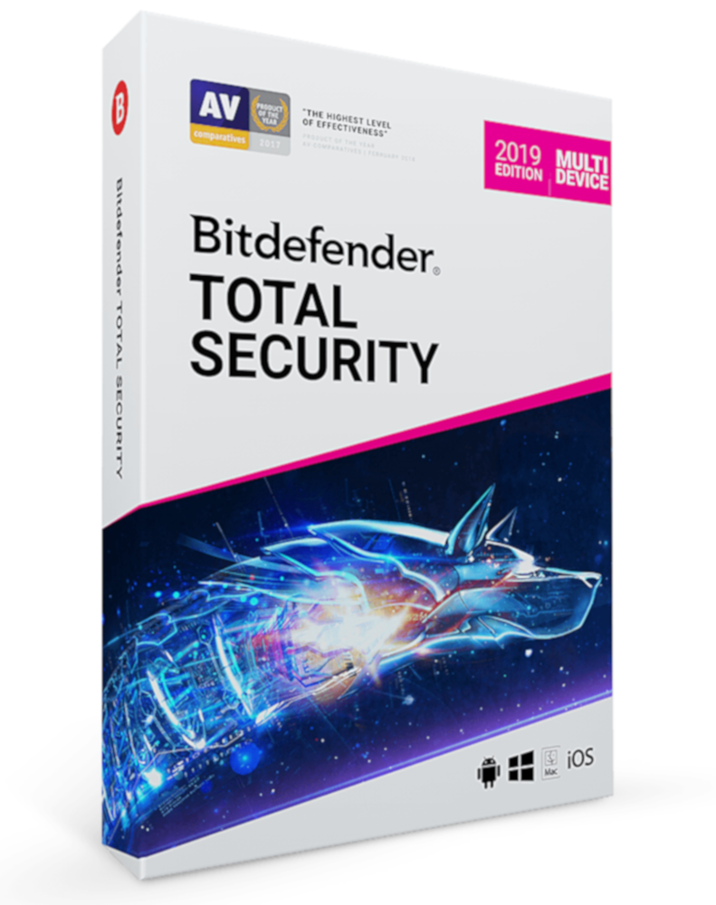 Bitdefender Total Security Multi-Device (10-Devices 2 jaar)